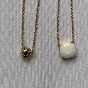 2 Kate Spade Necklaces in Gold